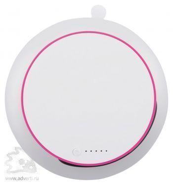 Зарядное устройство «Port» на солнечной батарее с присоской, розовый