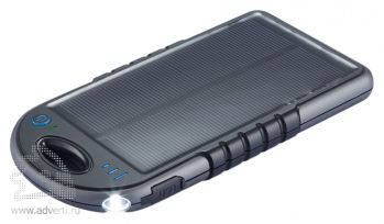 Влагонепроницаемое зарядное устройство «Swiss Peak» на солнечной батарее