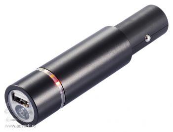Автомобильное зарядное устройство и фонарик 3 в 1, 1400 мАч
