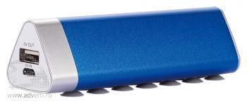 Зарядное устройство треугольной формы с присосками, синее