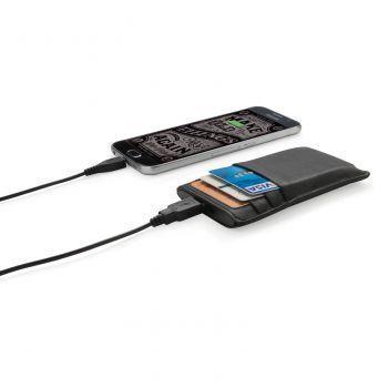 Бумажник с зарядным устройством «Swiss Peak», 2200 mAh