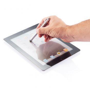 Ручка-стилус с фонариком и лазерной указкой 4 в 1, пример использования