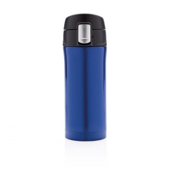 Термокружка Easy lock, 300 мл, синяя, вид спереди