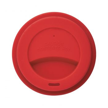 Стакан с крышкой «PLA», красный, крышка