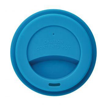 Стакан с крышкой «PLA», синий, крышка