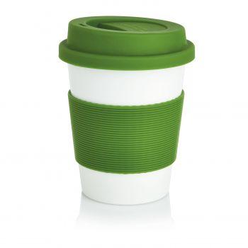 Стакан с крышкой «PLA», зеленый
