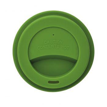 Стакан с крышкой «PLA», зеленый, крышка