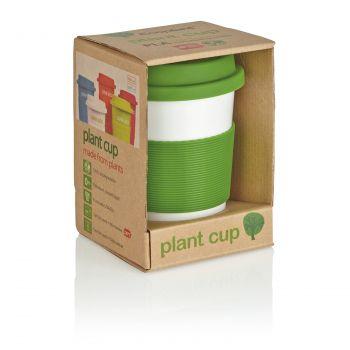 Стакан с крышкой «PLA», зеленый, в упаковке