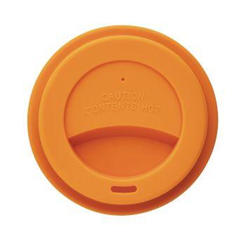 Стакан с крышкой «PLA», оранжевый, крышка