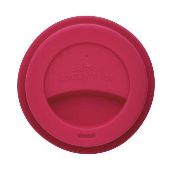 Стакан с крышкой «PLA», розовый, крышка