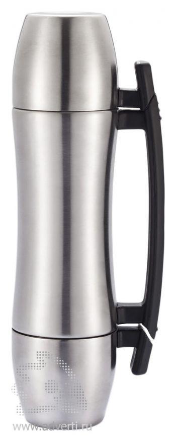 Термос «Wave Grip» с ручкой и 2 чашками, 700 мл, дизайн термоса