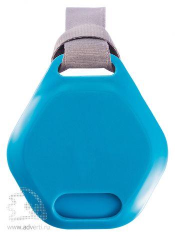 Бутылка для воды «Turner», белая с голубым вид сверху