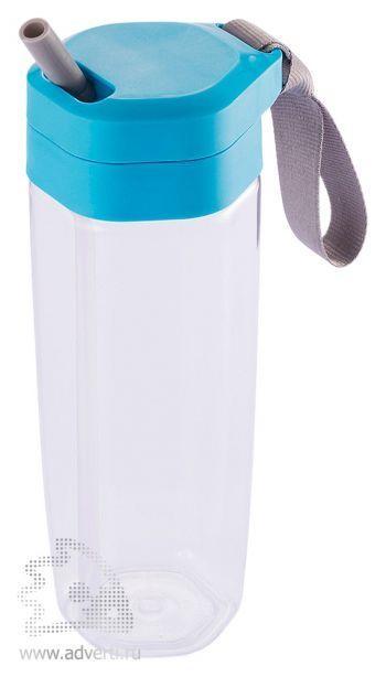 Бутылка для воды «Turner», белая с голубым