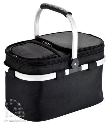 Корзина для пикника с кулером и алюминиевой рамой