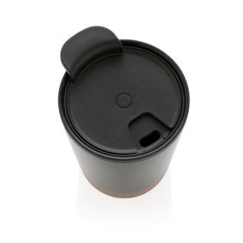 Термокружка «Cork», черная, сверху