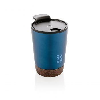 Термокружка «Cork», синяя, с нанесением