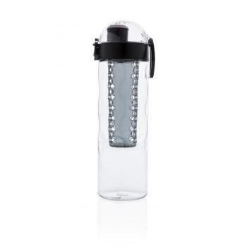 Герметичная бутылка для воды с контейнером для фруктов Honeycomb, вид сбоку