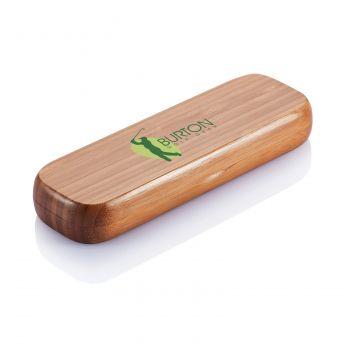 Бамбуковая ручка в пенале «Bamboo», с нанесением