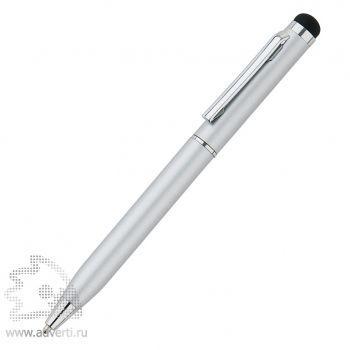 Тонкая металлическая ручка-стилус, серебристая