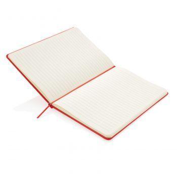 Блокнот для записей «Basic», в твердой обложке, А5, красный, открытый