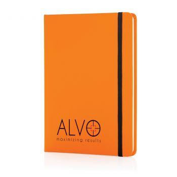 Блокнот для записей «Basic», в твердой обложке PU, А5, оранжевый, с нанесением