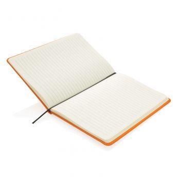 Блокнот для записей «Basic», в твердой обложке PU, А5, оранжевый, открытый