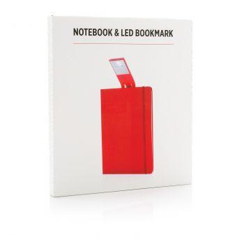 Блокнот с закладкой-фонариком, красный, в упаковке