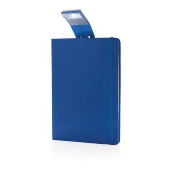 Блокнот с закладкой-фонариком, синий