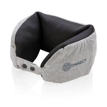 Подушка для путешествий «Deluxe», с наполнителем Microbead, с нанесением