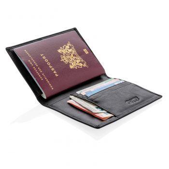 Обложка для паспорта «Swiss Peak», с защитой от сканирования RFID, с документами