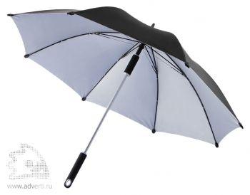 """Зонт-трость «Hurricane 23""""», черный"""