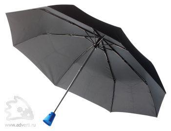 """Зонт-автомат «Brolly 21,5""""», складной, синяя ручка"""