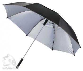 """Зонт-трость антишторм «Hurricane 27""""», черный"""