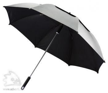 "Зонт-трость антишторм «Hurricane 27""», серый"