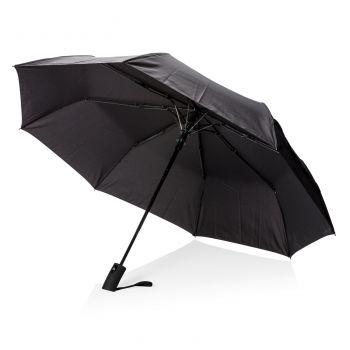 """Складной зонт-полуавтомат «Deluxe 21""""», черный"""