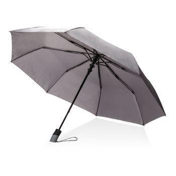 "Складной зонт-полуавтомат «Deluxe 21""», серый"