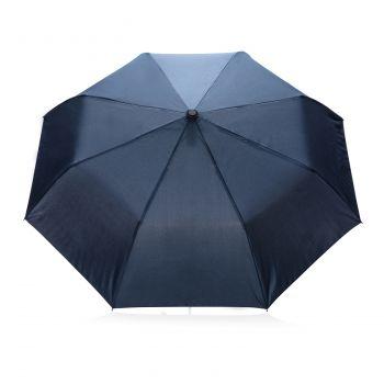 """Складной зонт-полуавтомат «Deluxe 21""""», синий, внешний купол"""