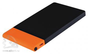 Внешний аккумулятор «Aurora PB» 4600 mAh, черный с оранжевым
