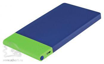 Внешний аккумулятор «Aurora PB» 4600 mAh, синий с зеленым