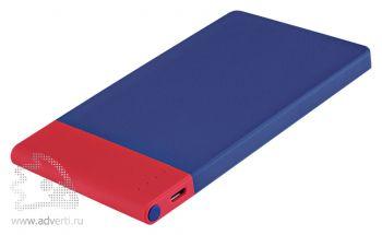Внешний аккумулятор «Aurora PB» 4600 mAh, синий с красным