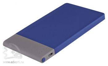 Внешний аккумулятор «Aurora PB» 4600 mAh, синий с серым