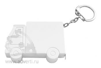 Брелок-рулетка «Машинка», белый