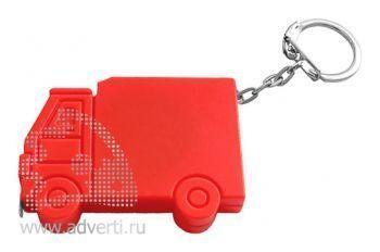Брелок-рулетка «Машинка», красный