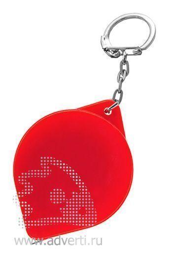 Брелок-рулетка «Капля», красный