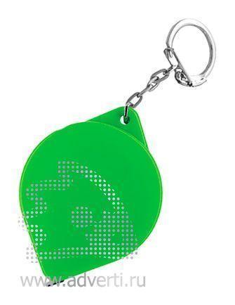 Брелок-рулетка «Капля», зеленый