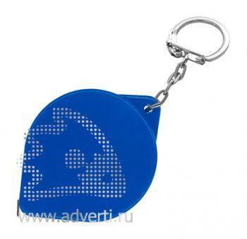 Брелок-рулетка «Капля», синий