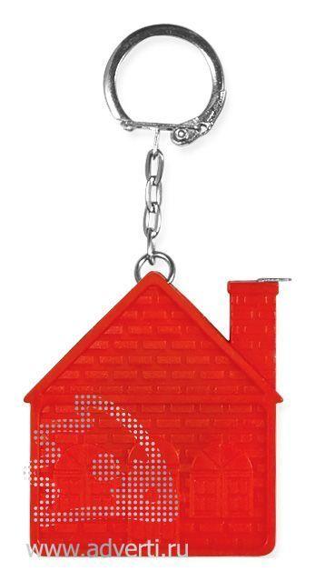 Брелок-рулетка «Дом», красный