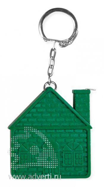 Брелок-рулетка «Дом», зеленый