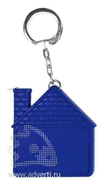 Брелок-рулетка «Дом», синий
