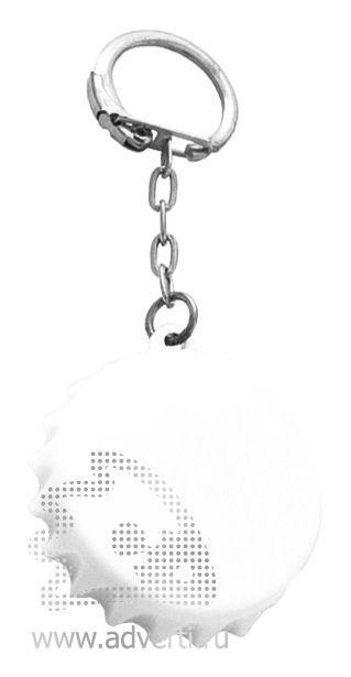 Брелок-рулетка «Пробка», белый